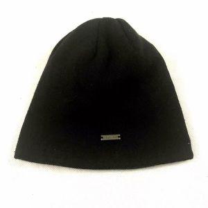 MICHAEL KORS Unisex Beanie Hat Black Logo